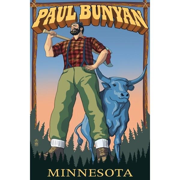 MN - Paul Bunyan - LP Artwork (Cotton/Polyester Chef's Apron)