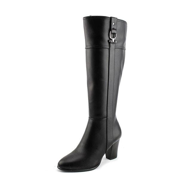Alfani Courtnee Wide Calf Women Round Toe Synthetic Black Knee High Boot
