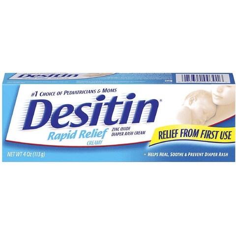 DESITIN Rapid Relief Diaper Rash Ointment, Creamy 4 oz