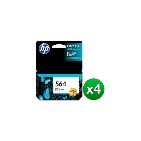 HP 564 Photo Original Ink Cartridge (CB317WN)(4-Pack)