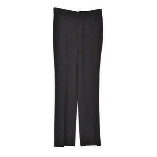 Lauren Ralph Lauren Women's Knit Straight Dress Pants (0, Black) - Black - 0
