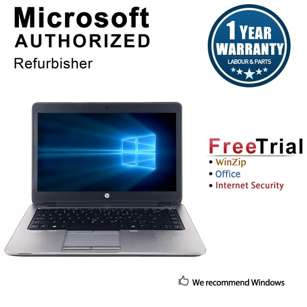 "Refurbished HP EliteBook 840G1 14.0"" Intel Core i5-4300U 1.90GHz 4GB DDR3 120GB SSD Windows 10 Pro 64 Bits 1 Year Warranty"