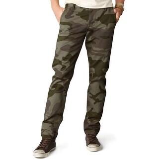 Dockers Alpha Khaki Slim Tapered Camo Chinos Pants Olive 34 x 34