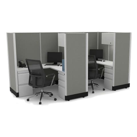 Modular Office Desk Furniture 67H 2pack Inline Powered