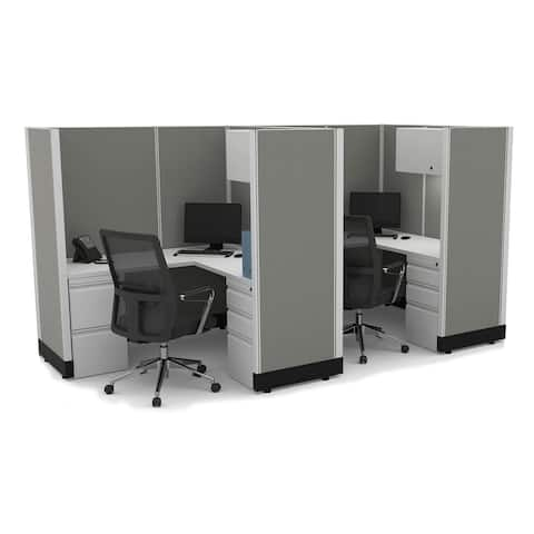 Modular Office Desk Furniture 67H 2pack Inline Unpowered