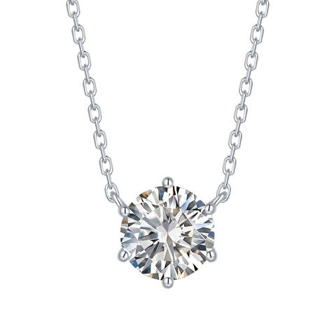 Smiling Rocks Essentials Collection 0.79Ct G-H/VS1 Lab Grown Diamond Necklace
