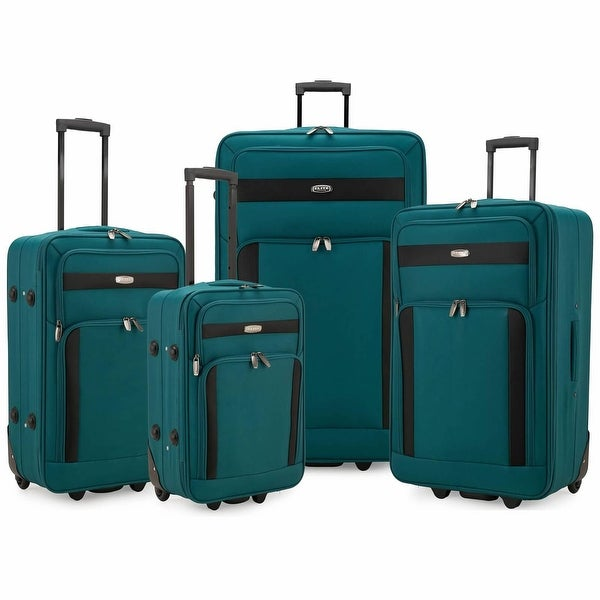 Elite Luggage 4-Piece Softside Lightweight Rolling Luggage Set