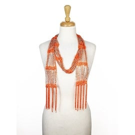 Women's Seed Bead Long Thin Lightweight Belt Scarf Wrap