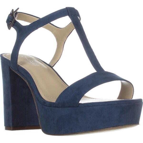 Charles by Charles David Miller T-Strap Platform Sandals, Denim