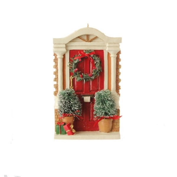 "5"" Red Colonial Festive Front Door Christmas Ornament"