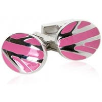 Pink Abstract Cufflinks