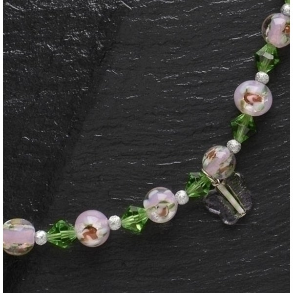 "Moments In Life ""Change"" Pink & Green Beaded Bracelet - N/A"