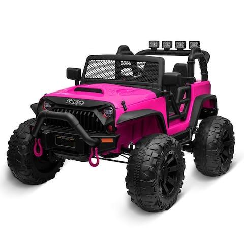 Kidzone Kids 12V Battery Ride On Truck W/ Off Road Wheels, 11 Colors - standard