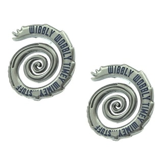 Doctor Who Wibbly Wobbly Timey Wimey Stud Earrings - Silver