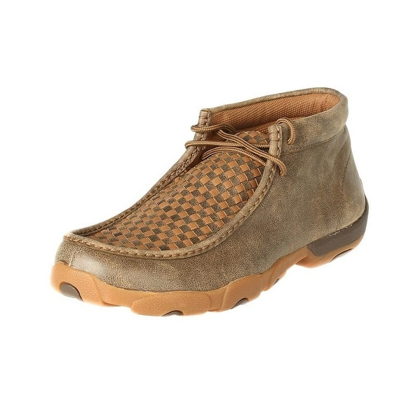 Twisted X Casual Shoes Mens Mocs Checkerboard Lace Bomber Tan