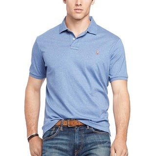 Polo Ralph Lauren Big and Tall Bedford Blue Heather Soft Touch Polo Shirt XLT