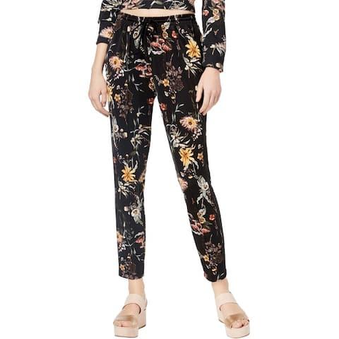 Bar Iii Womens Floral Casual Sweatpants
