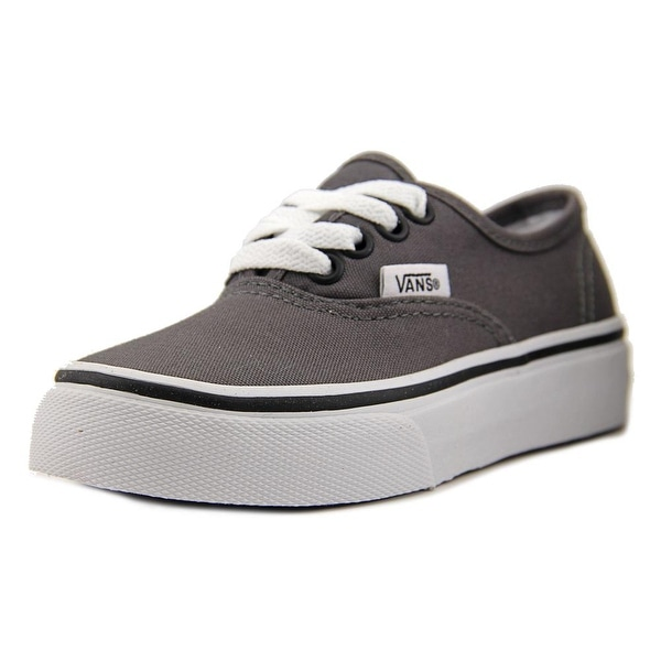 Vans Authentic Youth  Round Toe Canvas Gray Skate Shoe