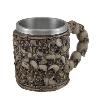 The Boneyard Skull Covered Drinking Mug w/Stainless Steel Liner