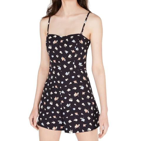 French Connection Womens Romper Blue Size 6 Multi-Way Floral-Print