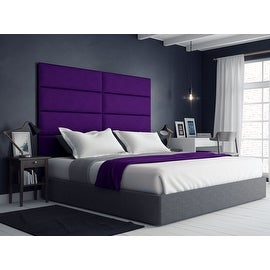 Skyline furniture tufted headboard in velvet aubergine for C meo bedroom wall dress