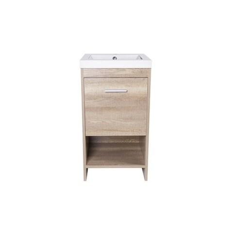 Jano - Claudius Series Vanity Cabinet w/ Resin sink