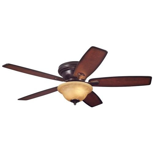 "Westinghouse 7247000 Sumter 52"" 5 Blade Hugger Indoor Ceiling Fan with Reversible Motor, Blades, and Light Kit Included"