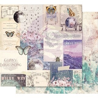 """Moon Child Foiled Double-Sided Cardstock 12""""X12""""-Lunar Peak"""