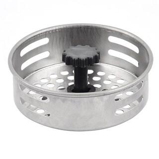 Bathroom Stainless Steel Round Sink Bathtub Residue Strainer Stopper 7.9cm Dia
