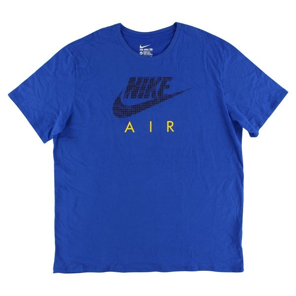 701d81b771af Shop Nike Mens Air Hybrid T Shirt Royal Blue - royal blue black yellow -  Free Shipping On Orders Over  45 - Overstock - 22614792