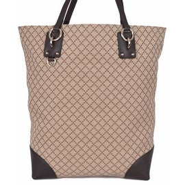 Gucci 353702 Beige Jacquard Diamante LARGE Purse Handbag Tote