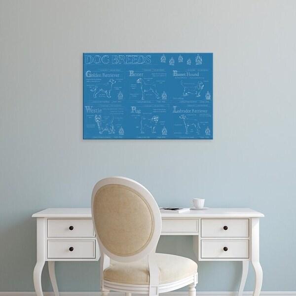 Easy Art Prints Ethan Harper's 'Dog Breeds Infograph' Premium Canvas Art