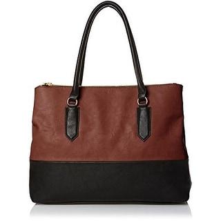 Emilie M. Womens Cheri Faux Leather Computer Tote Shoulder Handbag - Large
