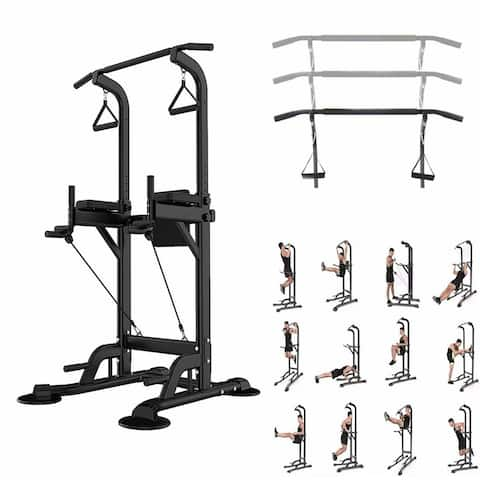 Multi-Function Power Tower Pull Up Dip Station Home Gym Equitment Stable Exercise Fitness