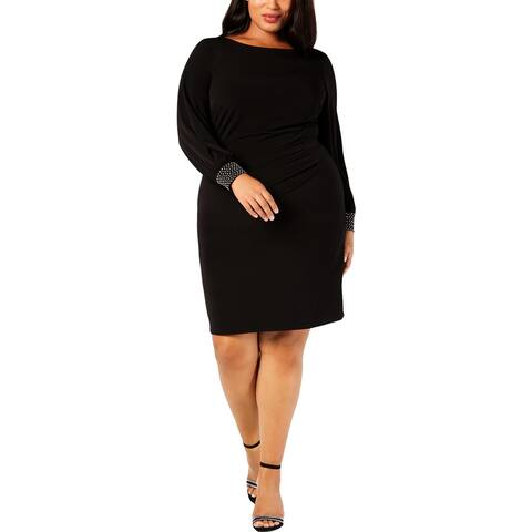Jessica Howard Womens Plus Cocktail Dress Party Embellished