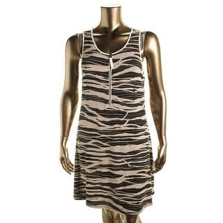 Kensie Womens Casual Dress Heathered Printed