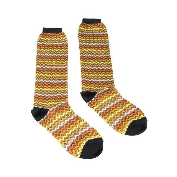 Missoni GM00COD4933 0004 Yellow/Orange Knee Length Socks - M
