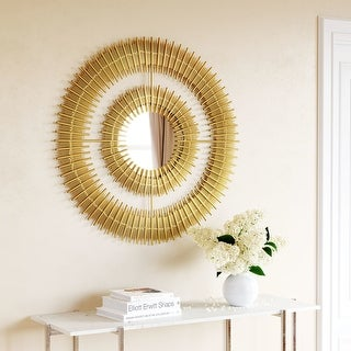 Link to Zeus Round Mirror Gold Similar Items in Mirrors
