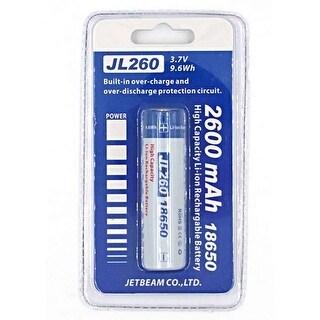 Jetbeam 18650 Rechargeable Li-ion Battery 2600mAh - JBJL260