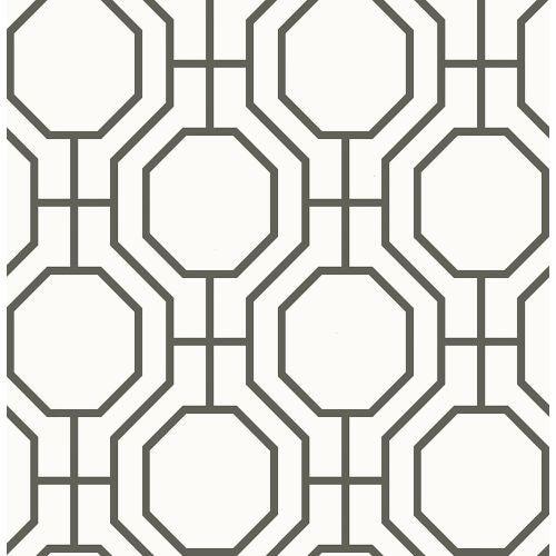 Brewster 2625-21844 Circuit Black Modern Ironwork Wallpaper