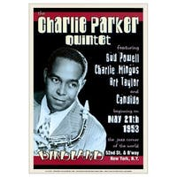 ''Charlie Parker Quintet: Birdland NYC, 1953'' by Anon Concert Posters Art Print (24 x 17 in.)