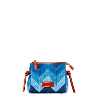 Dooney & Bourke Chevron Cosmetic Case (Introduced by Dooney & Bourke at $48 in Jan 2017) - Denim