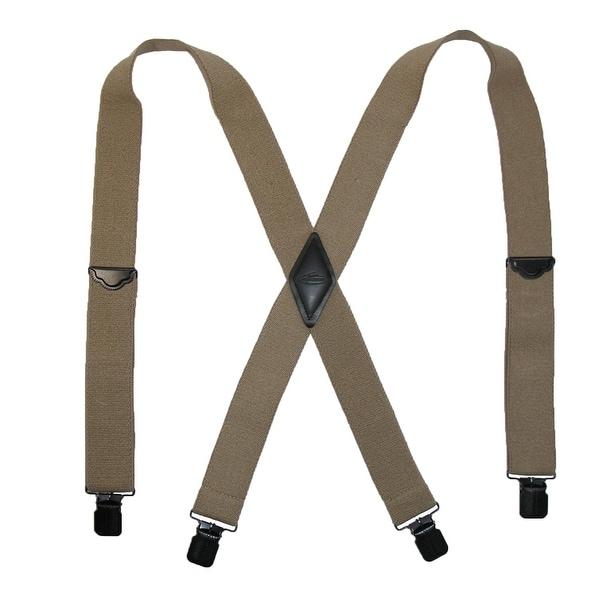 Realtree Men's Elastic Solid Color Clip-End Suspenders