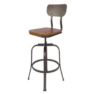 Delacora BS-BIBS005 Tara 42 Inch Tall Metal Bar Stool