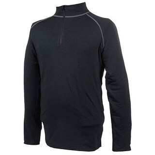 Misty Mountain Unisex Pro Performance Stretch Active Sports Baselayer Top - Black - XL