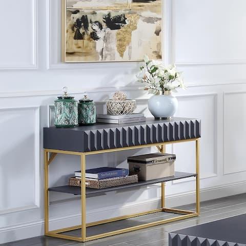 Furniture of America Bird Mid-Century Modern Sofa Table
