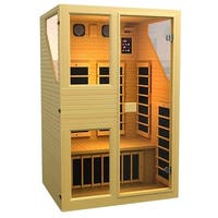 JNH Lifestyles Ensi 2-person 0-EMF Far Infrared Canadian Hemlock Wood Sauna (Model NE2HB)
