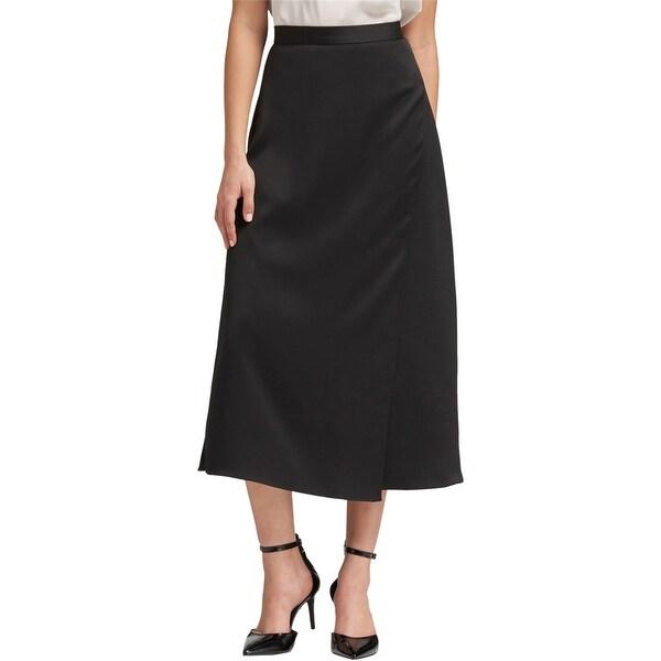Dkny Womens Side-Slit Midi Skirt. Opens flyout.