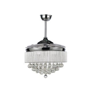 42.5-inch 4-Blades LED Ceiling Fan with Remote Crystal Chandelier