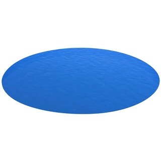 vidaXL Round Pool Cover 216 inch PE Blue